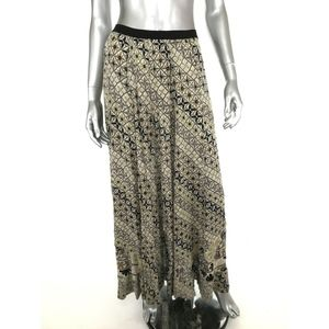 FP One Maxi Skirt XS Multicolor Print Pull On Boho